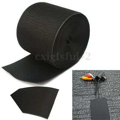 5m X 100mm Tidy Floor Cable Wrap Tape Hide Carpet Nylon Wire Organiser Cover