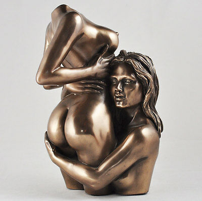 """ My Heart's Desire "" Erotic Lady Cold Cast Bronze Sculpture / Figurine.New."
