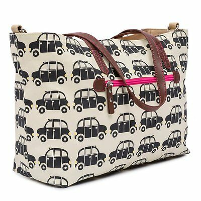 PINK LINING Notting Hill Tote - Black Cabs
