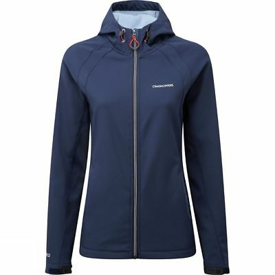 Craghoppers Womens Lena Sports Softshell Water resistant Coat Jacket Blue
