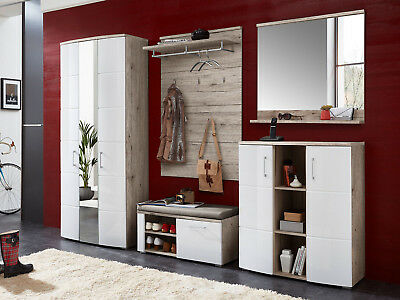 garderobe komplett set flurgarderobe dielengarderobe flur flurm bel maike i eur 319 95. Black Bedroom Furniture Sets. Home Design Ideas
