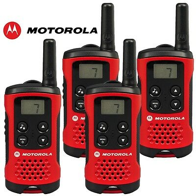 ** Motorola TLKR T40 Quad 2 Way Walkie Talkies 4 Pack **