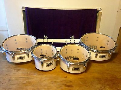 """WHD Professional Marching Tom Set with Carrier, 8"""", 10"""", 12"""", 13"""""""