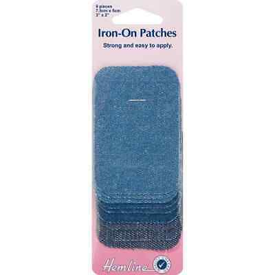 Hamline Assorted Pack of Iron On Denim Patches - 9 Patches