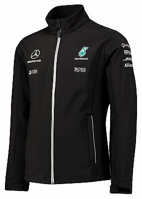 Mercedes AMG Petronas F1 Official Men's Team SoftShell Jacket - 2017