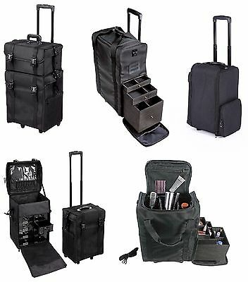 Professional Makeup Artist Carry Case Cosmetic Trolley Nylon Organizer Box