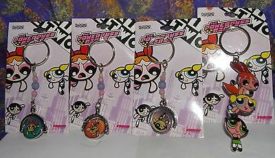Cartoon Network 2000 - Powerpuff Girls Bubbles Blossom Buttercup Keychains Lot 4