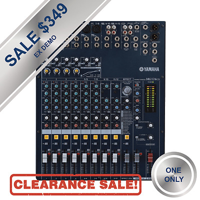 Yamaha MG124CX Compact 12 Channel Mixer with FX CLEARANCE