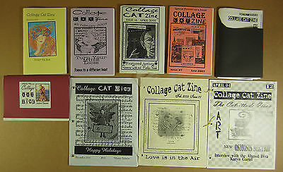 COLLAGE CAT ZINE Lot of 9 Issues # 4 5 6 7 8 9 10 11 12 2003 2004