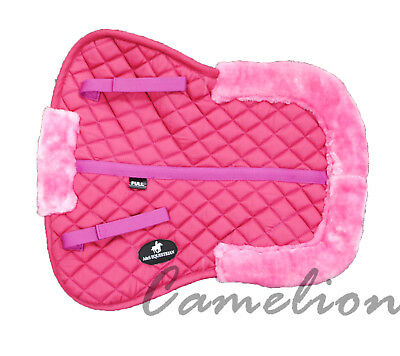 Great Quality Faux Fur / Sheepskin Lined Breathable Saddle Half Pad Full / Cob