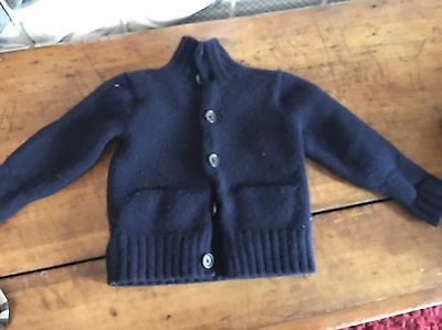 Polo Ralph Lauren Navy Blue Cashmere And Wool Thick Sweater Size 5 Fits Like 2/3