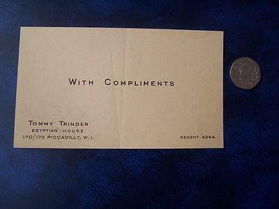 Tommy Trinder -  Ephemera - Music Hall Theatre Film History - Compliment Slip