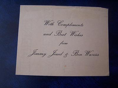 Jimmy Jewel & Ben Warriss -  Ephemera - Music Hall Theatre Film History