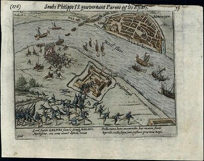 Geldria Nijmegen battle 80 Years War Netherlands Spain 1616 old city plan map