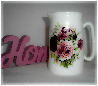 BN Boxed Fine Bone China Personalised Vintage Floral  Wedding Anniversary Jug