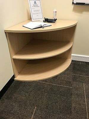 "Corner Storage Shelving Unit. Wood. Good Condition. 30""lxw Office"