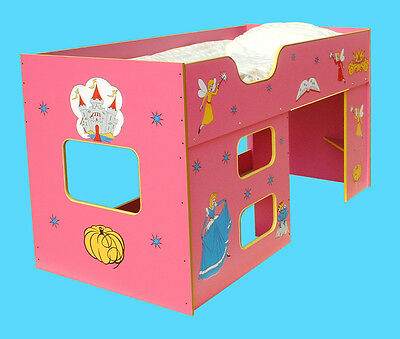 """""""new"""" Pink Fairy Princess Childrens Cabin Bed Kids (R132Princess)"""