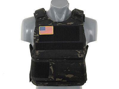 8Fields Delta Soft Body Armour - Multicam Black - Airsoft - Hunting