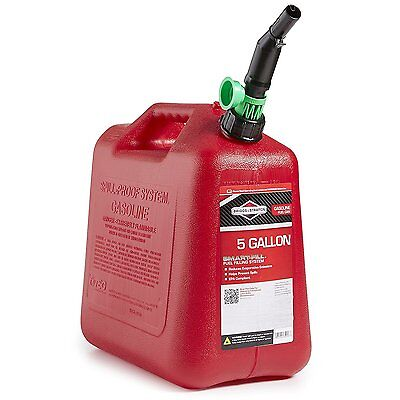 Briggs & Stratton 5 Gallon Gas Gasoline Can Container Auto Shut Off new