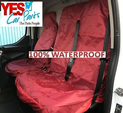 Vauxhall Movano Rwd Full Red 2+1 Van Seat Cover Set
