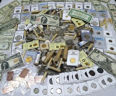 Giant 80 Coin Lot From Estate! Silver,gold,100+ Years, Barber, 1 Year Of Issue!!