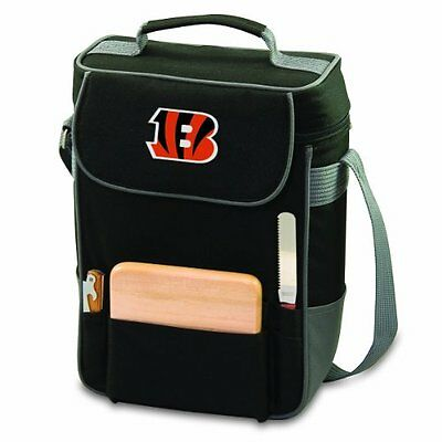 PICN-623041750742-NFL Cincinnati Bengals Duet Insulated 2-Bottle Wine and Chees