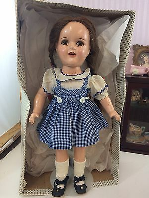 """16"""" Antique Composition Ideal Dorothy Doll w Bottom of Orig Box! 1930s Beautiful"""