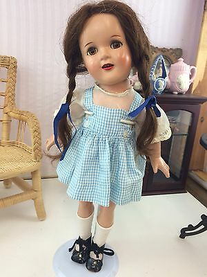 """15"""" Antique Composition Ideal Dorothy Doll From 1930s Wizard Of Oz!"""