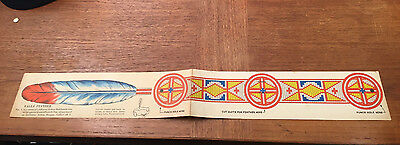 Vintage Quaker Cereal Indian Headband Cereal Premium Eagle Feather