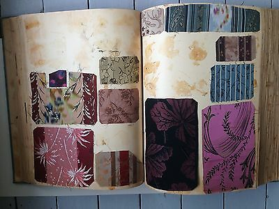 Antique French Silk Brocade fabric sample book Early 20th Century. Textile.