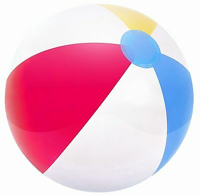 16in Beach Ball Inflatable Blow up Panel for Fun, Holiday, Party, Swimming
