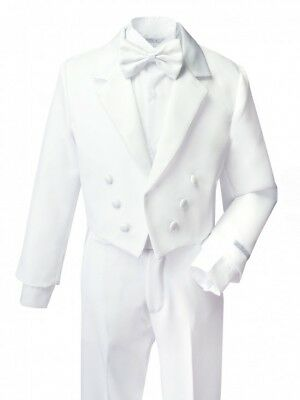 Baby Boy White Suit/Tuxedo Party/Baptism/Wedding 5 pieces Outfit/Sizes ..