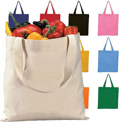 Canvas Grocery & Shopping Tote Bag - Eco-Friendly Reusable