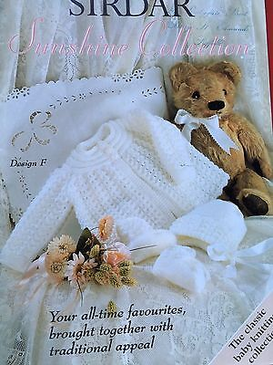 """Sirdar """"Sunshine Collection"""" Baby Knitting Book. 16-20"""". Used"""
