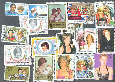 Princess Diana 50 all different collection-Royalty-