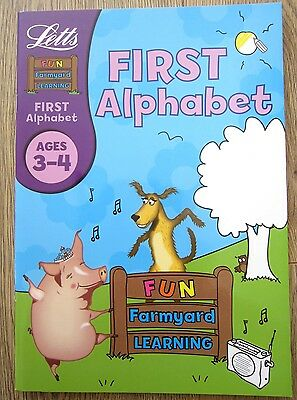 Nursery Pre School Educational Activity Book Children Learn Alphabet ABC Age 3 4