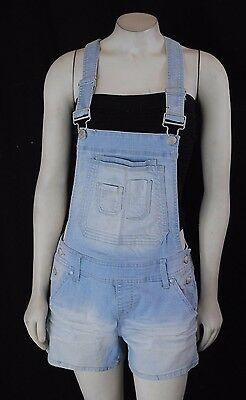 NWT Maurices Woman's Overall Denim Jeans Light wash Shorts Stretch 1-14