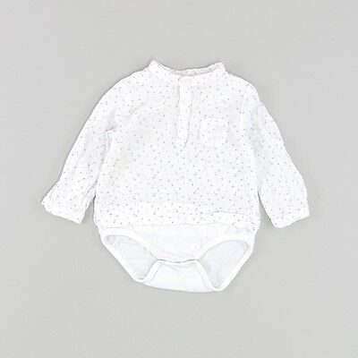 Camisa body color Blanco marca Zara 3 Meses