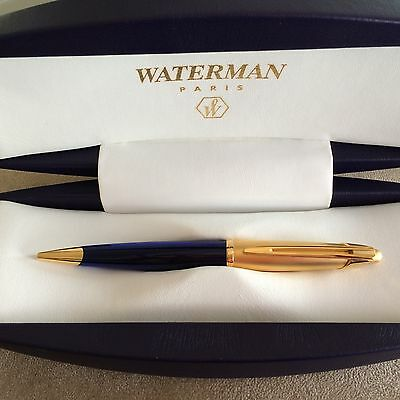 Waterman Edson Ball Point Pen Saphire And Gold