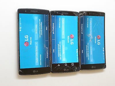 Lot of 3 LG G Flex 2 US995 U.S Cellular Smartphones Power On Good LCD AS-IS*