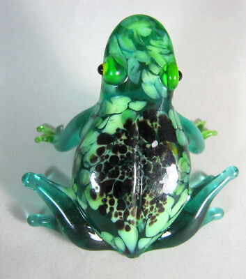 russian glass animal frog murano figurine art hand blown