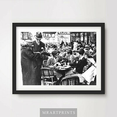 VINTAGE CAFE PHOTOGRAPH Art Print Poster Food Drink Picture Dining 1920s 1910s