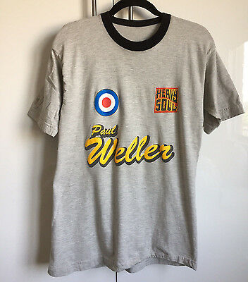 Vintage Paul Weller 1998 Heavy Soul Tour The Jam T-Shirt Mod Bootleg Tsc