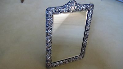 Superb Large Antique Solid Silver Easel-Backed Dressing Mirror