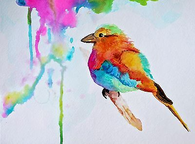 Beautiful Birds Watercolour art Painitng 100% Canvas Print wall home Decor