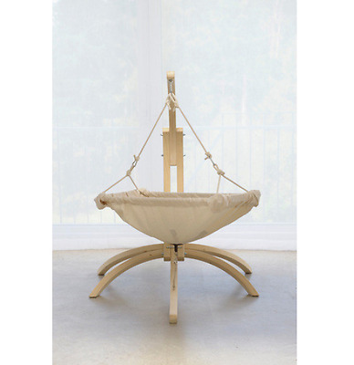Kaya Hanging Chair New Contemporary Comfy Cotton Outdoor Baby Swing Chair White