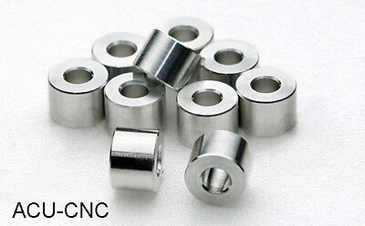 12 Aluminum Bolt Spacers - 1 inch OD x 1/2 inch ID - 3 Lengths