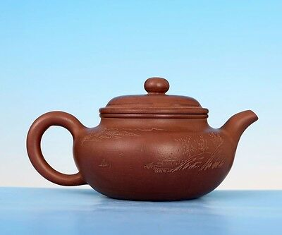 Unique Old Chinese Yixing Zisha teapot Craftsmanship Purple sand Teapots 286GD
