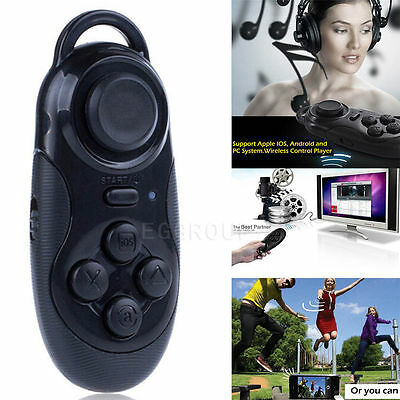 Black Wireless Bluetooth VR Controller Remote Gamepad Joypad For Mobile Phone