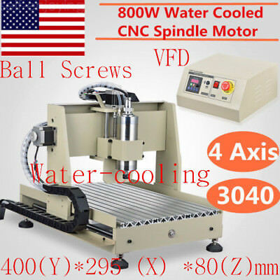 4 Axis 3040 CNC Router Engraver Engraving Milling Drilling Machine Ballscrew USA